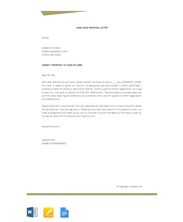Lease Proposal Template Doc