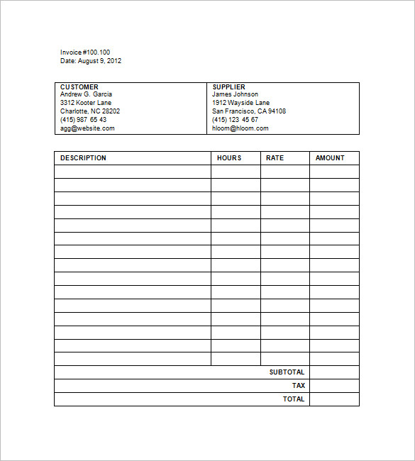 Legal Billing Template