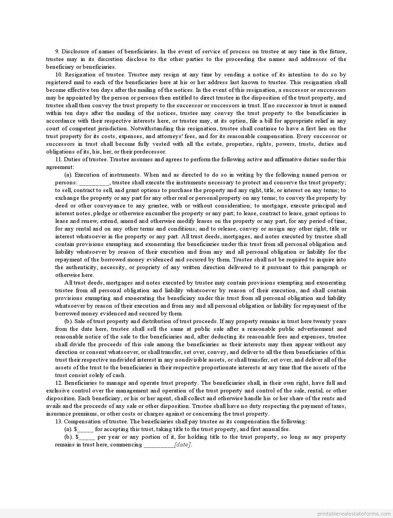 Legal Declaration Template