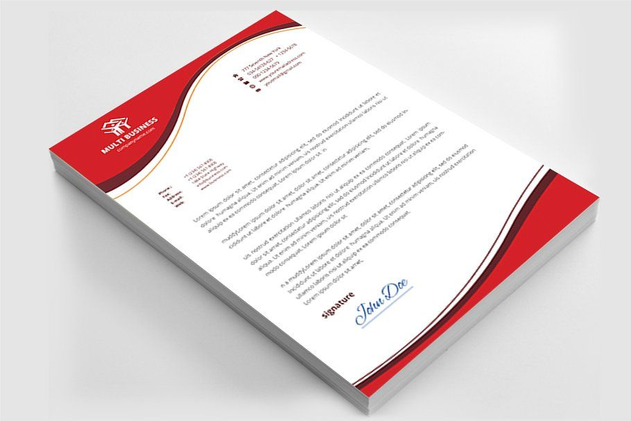 Letterhead Stationery Templates