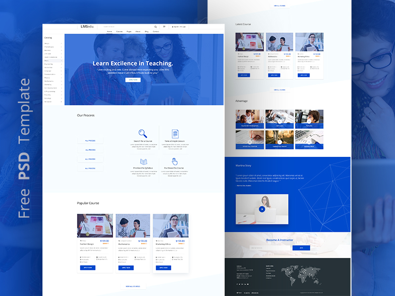 Lms Website Template Free