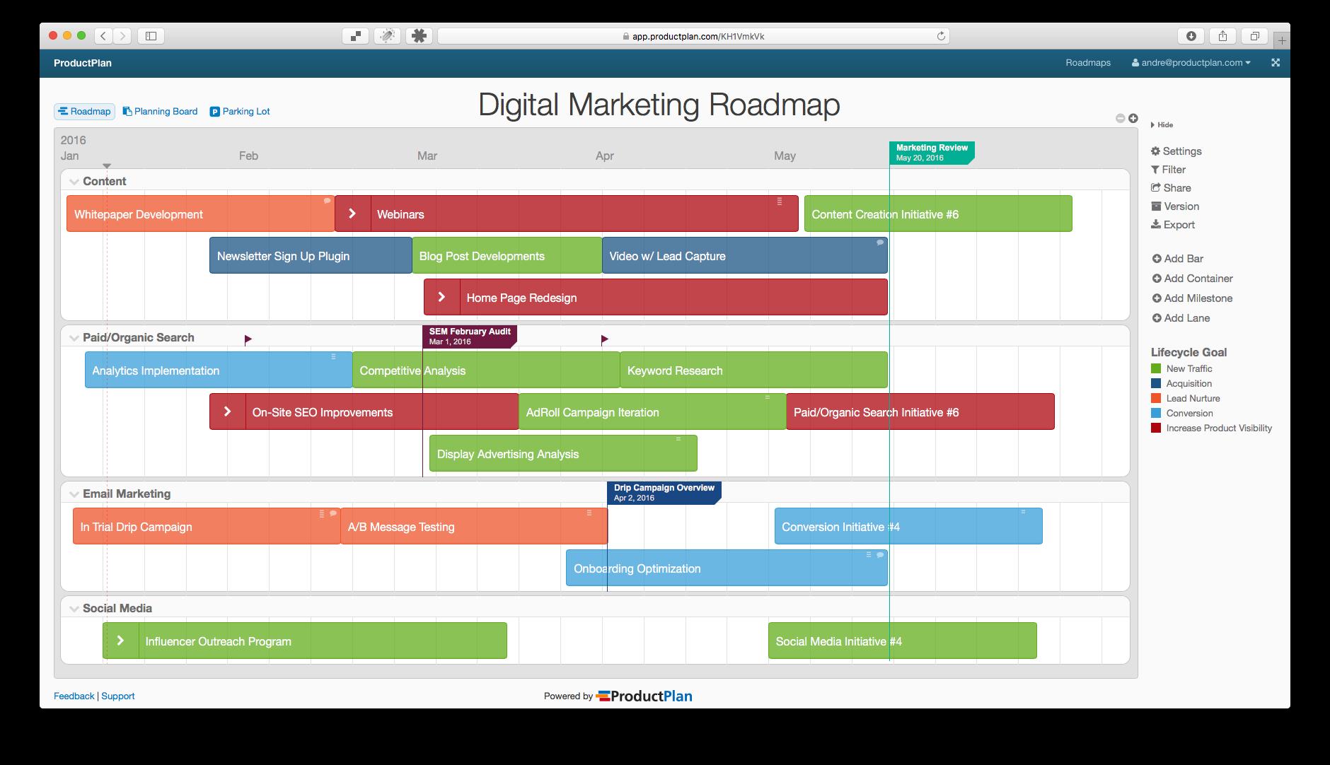 Marketing Plan Roadmap Template
