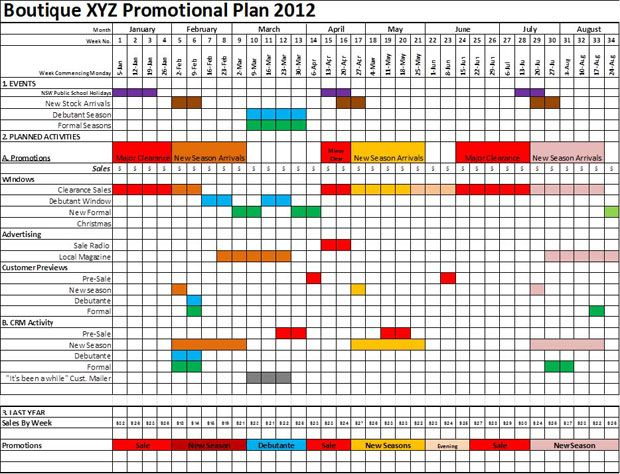 Marketing Promotional Calendar Template