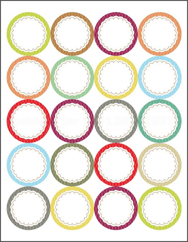 Mason Jar Lid Labels Template