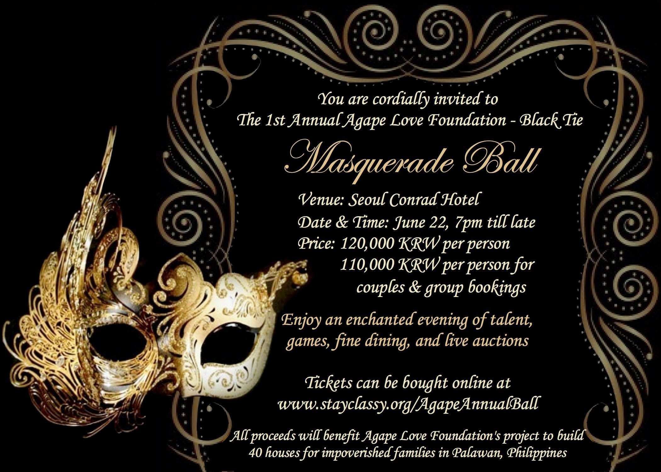 Masquerade Birthday Invitations Templates
