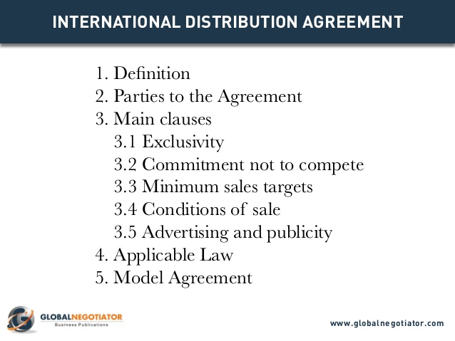 Master Distribution Agreement Template