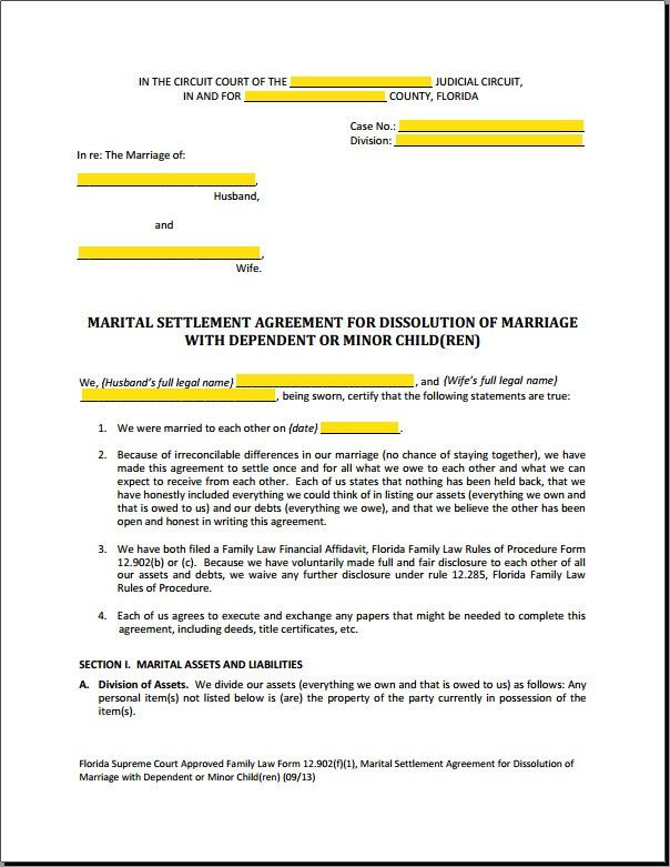 Mediation Settlement Agreement Template