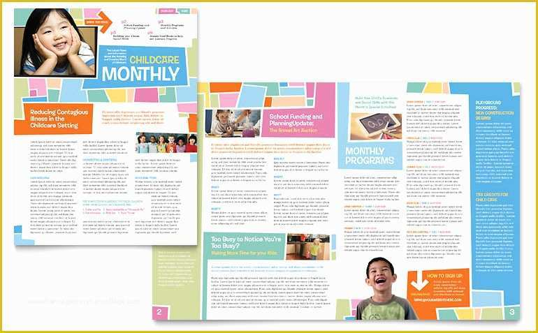 Medical Newsletter Templates Free Download Of Preschool Kids & Day Care Newsletter Template Word