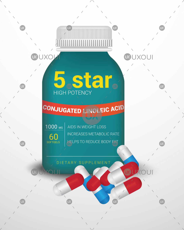 Medicine Bottle Label Design Template