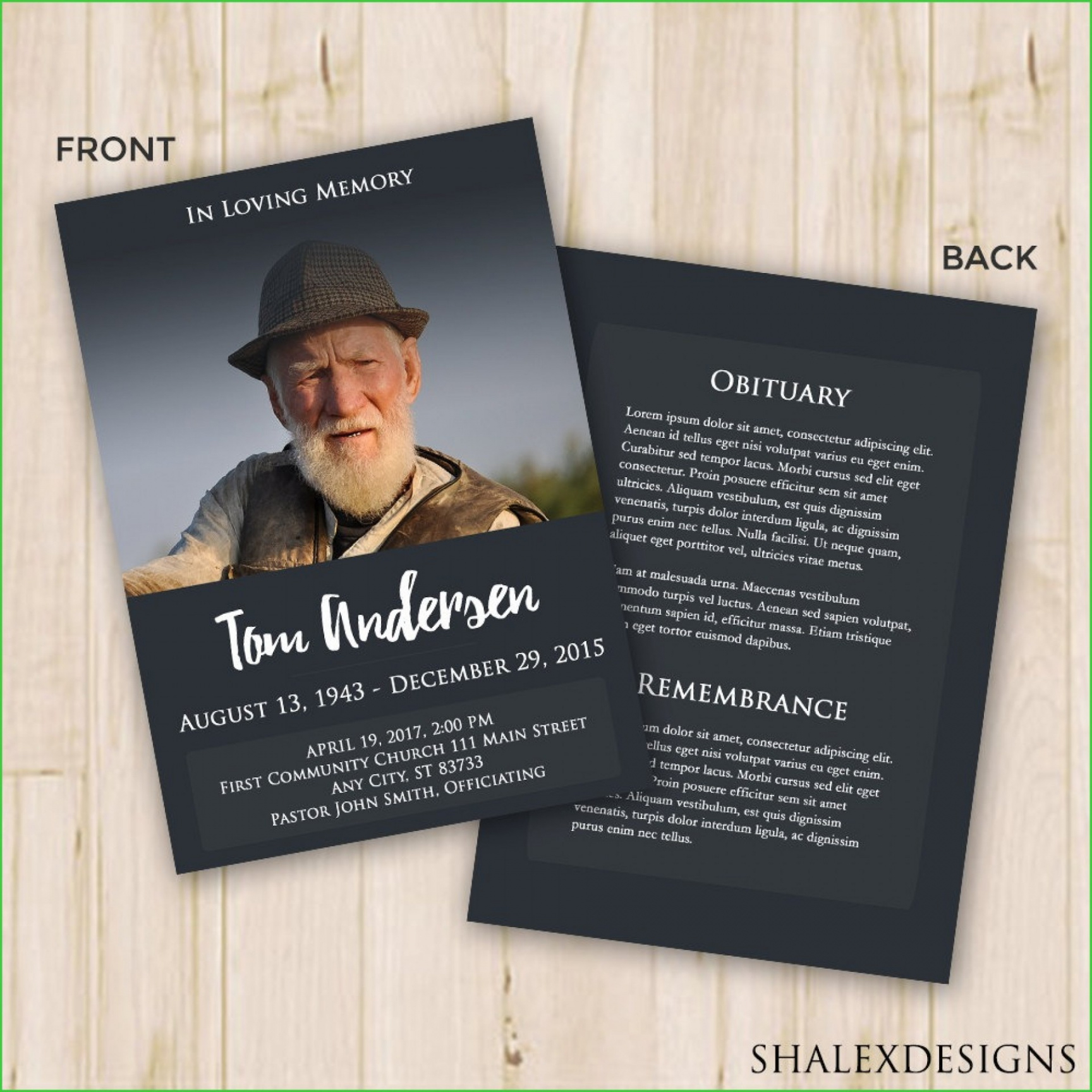 This Is 011 Memorial Service Template Free Ideas ~ Ulyssesroom Memorial Service Flyer Template Png