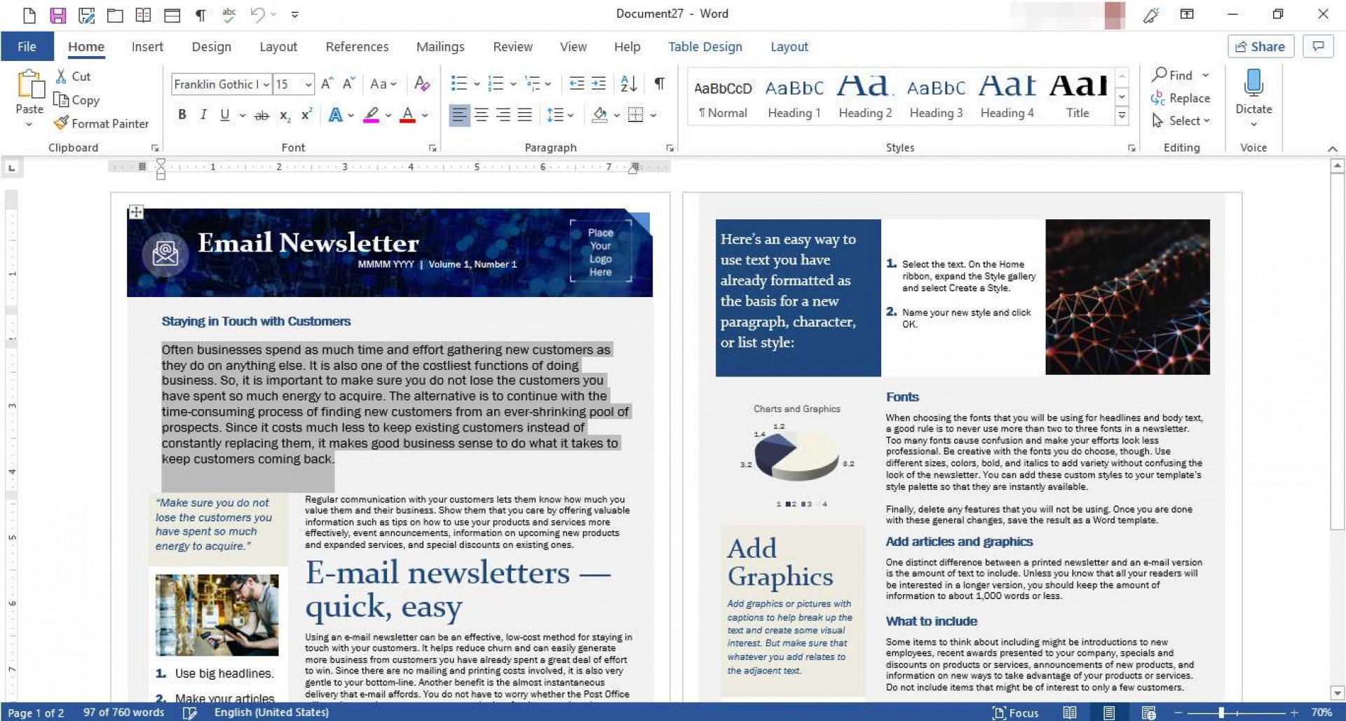 Microsoft Publisher Email Newsletter Templates