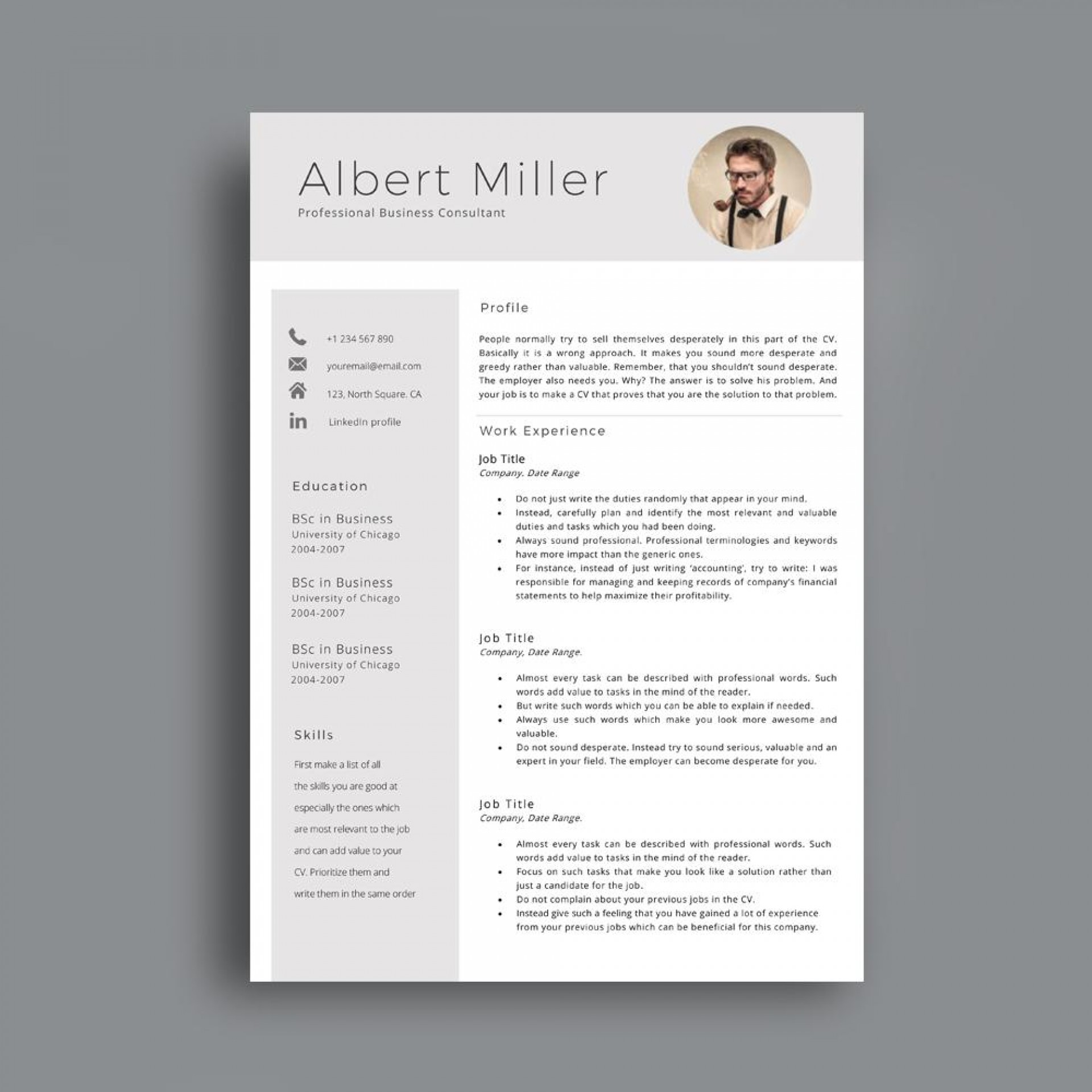 Modern Cv Template Uk Word