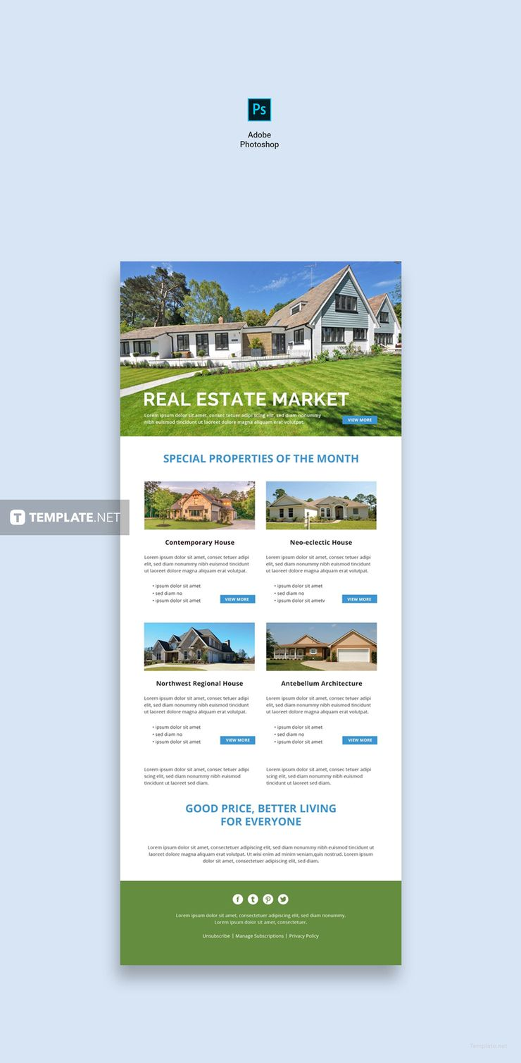 Monthly Real Estate Newsletter Templates