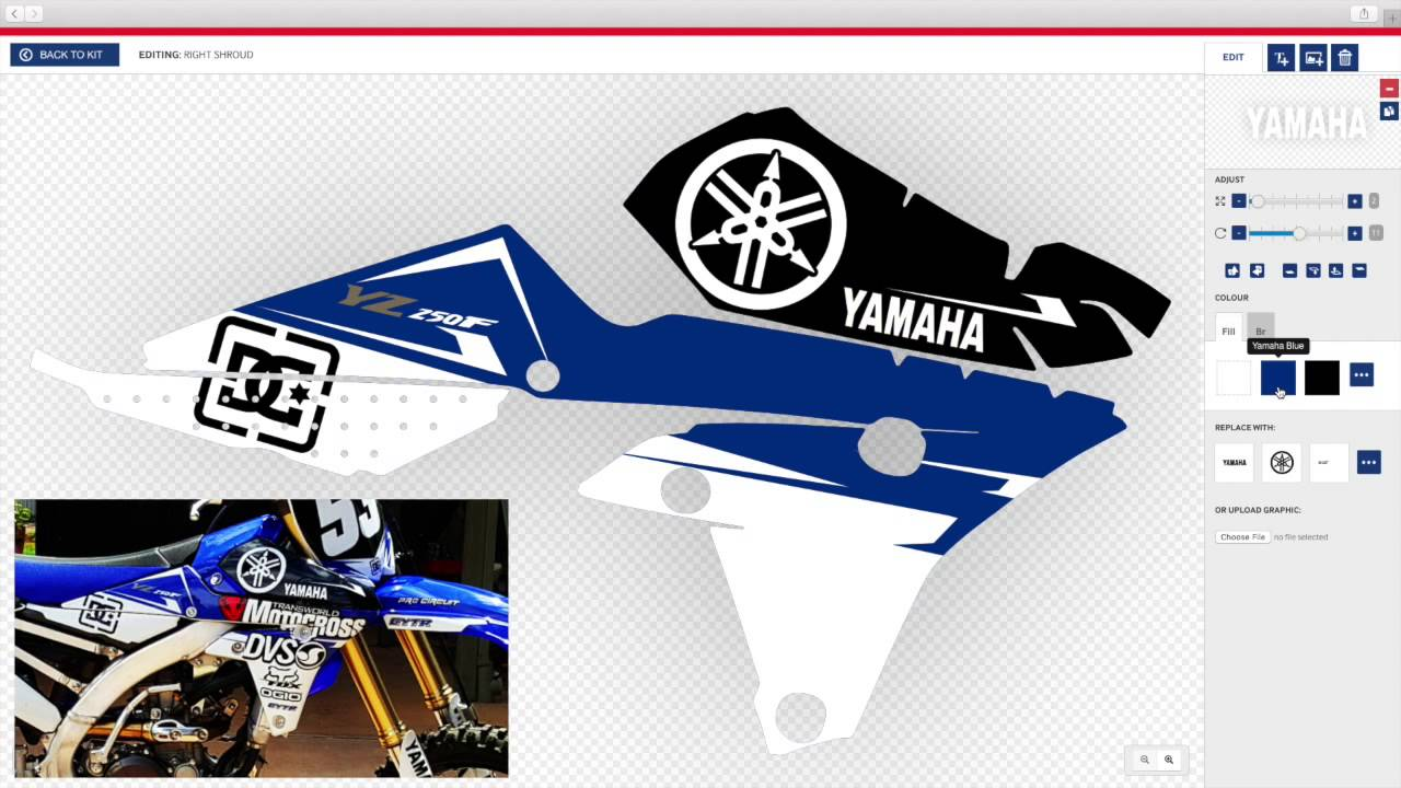 Motocross Graphics Templates Free