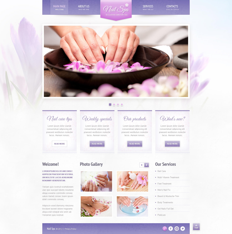 Nail Salon Responsive Website Template