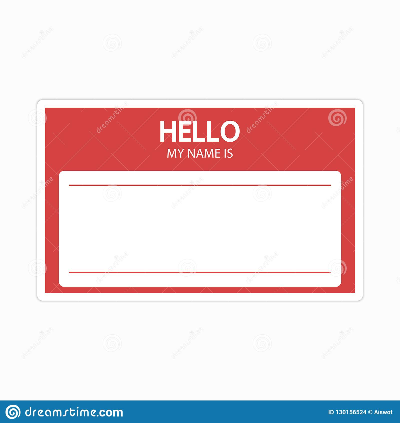 Name Sticker Label Template