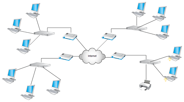 Network Topology Visio Network Diagram Templates