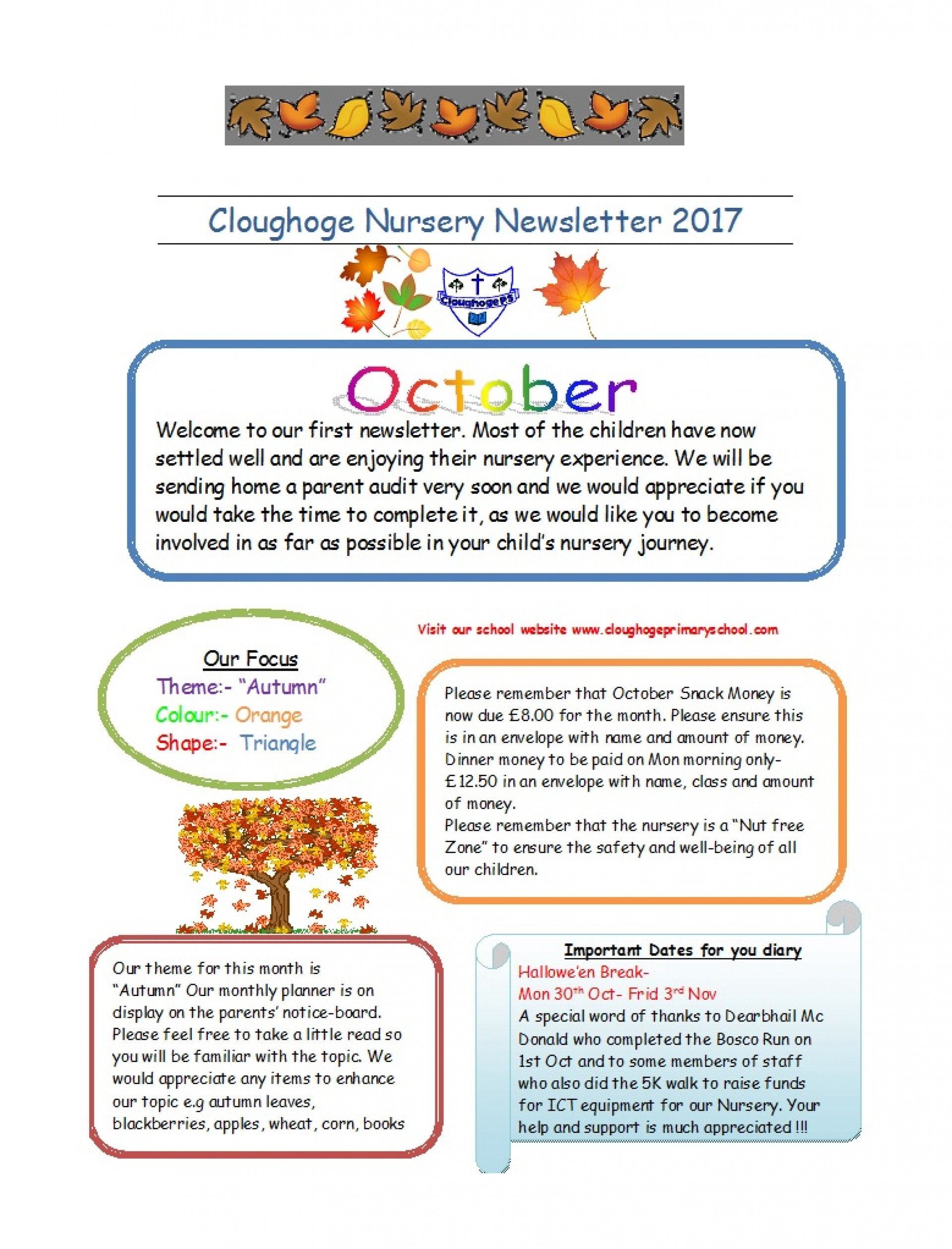 Newsletter Templates For Preschool Parents