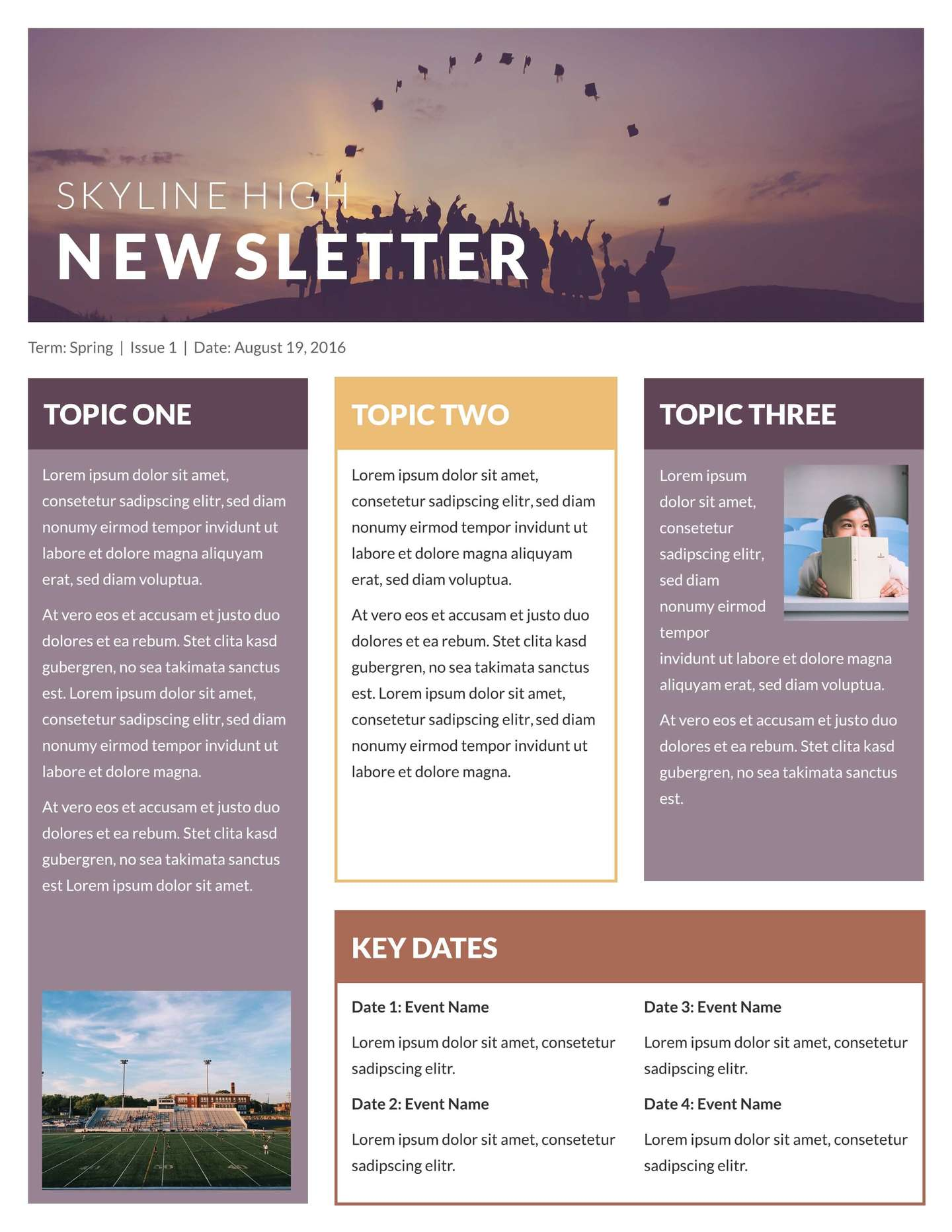 Newsletter Templates Printable