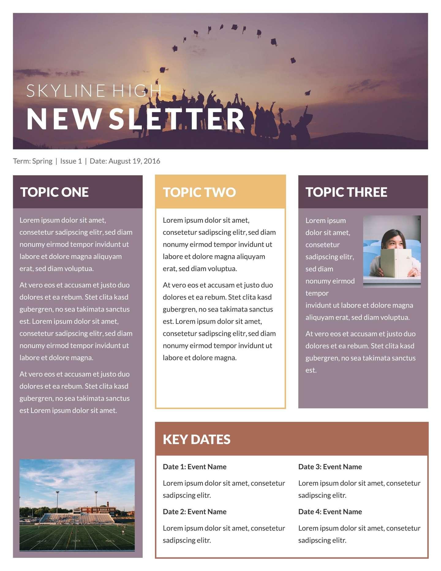 Newsletter Templates Printable