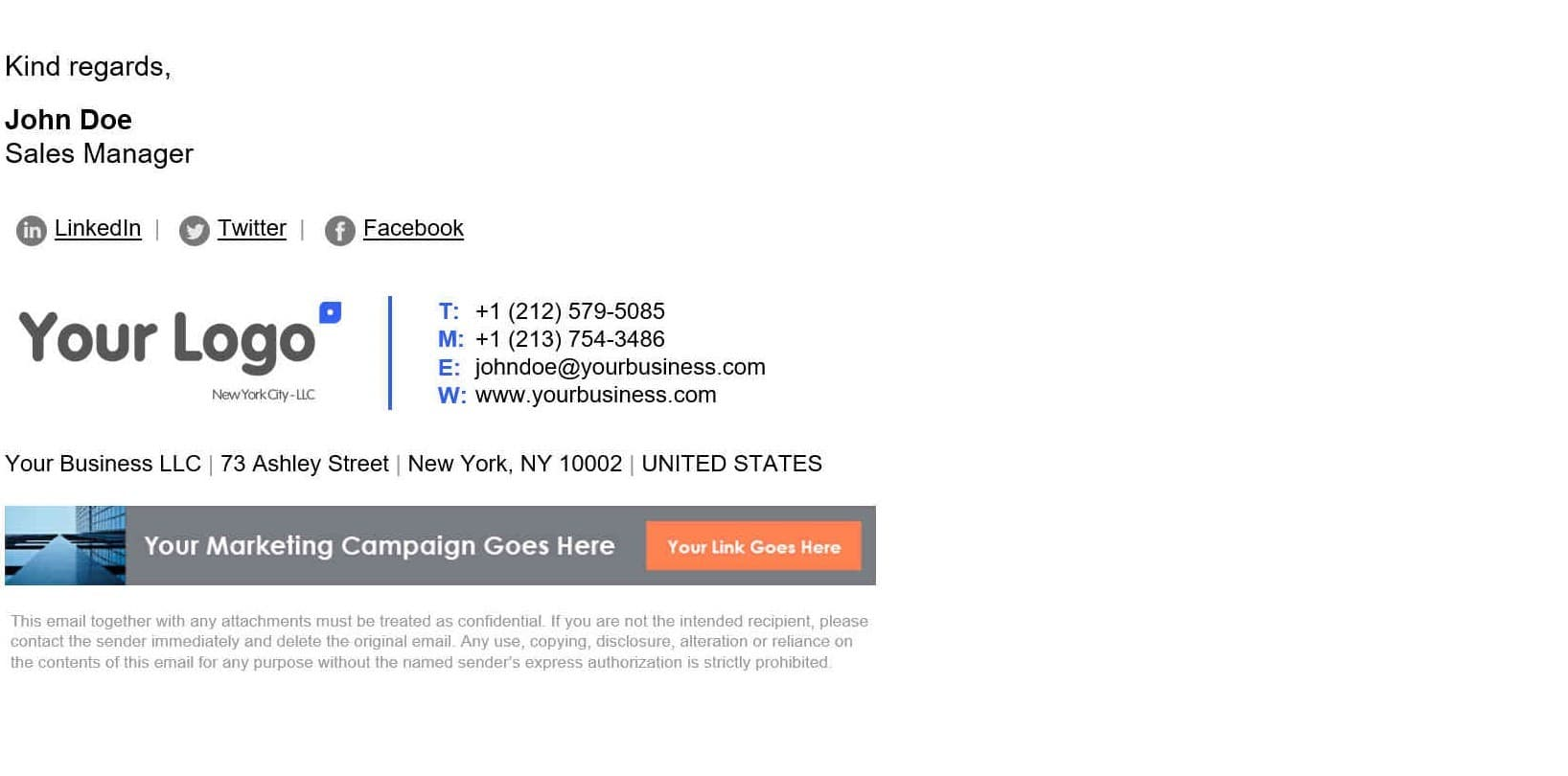 Nice Email Signature Templates