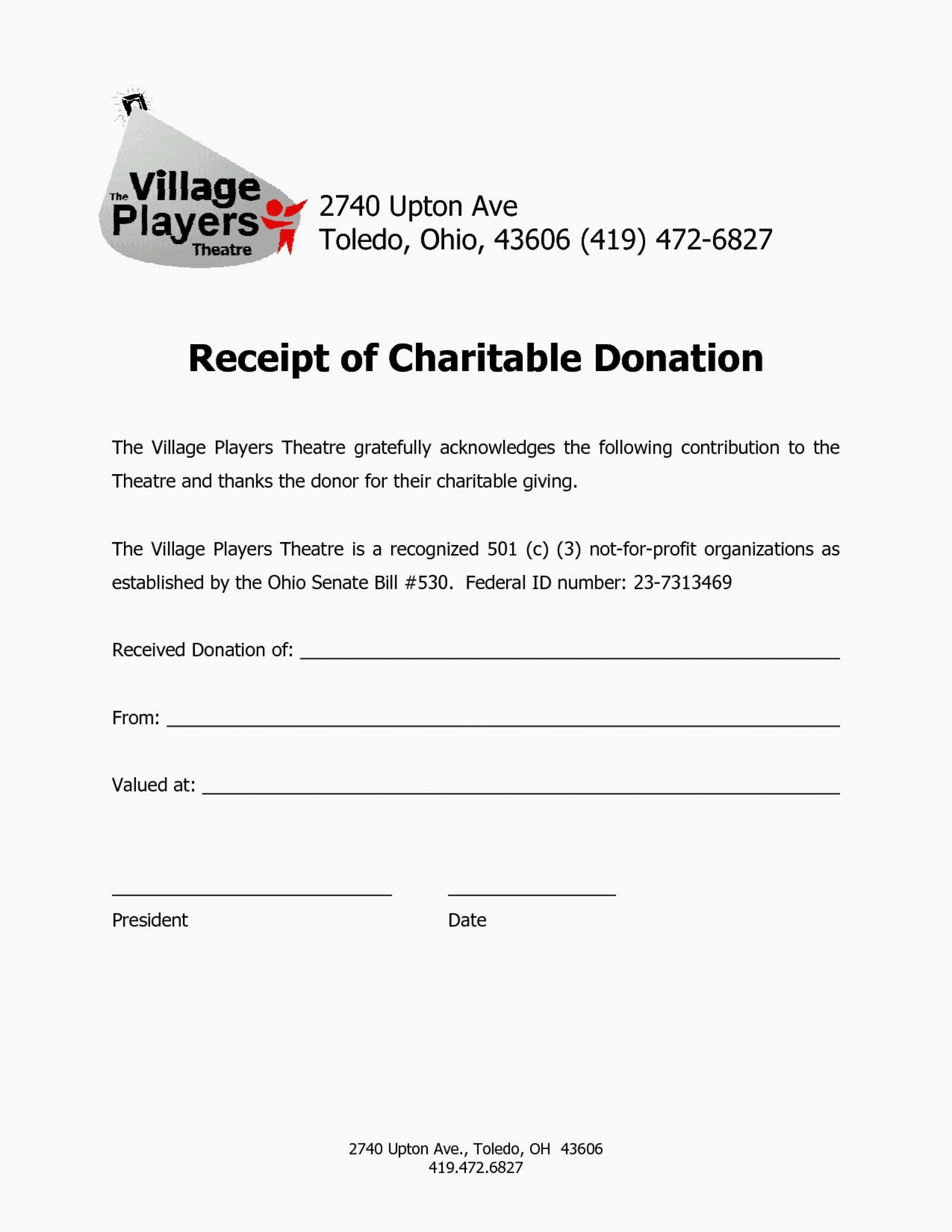 Non Profit Charitable Donation Letter Template