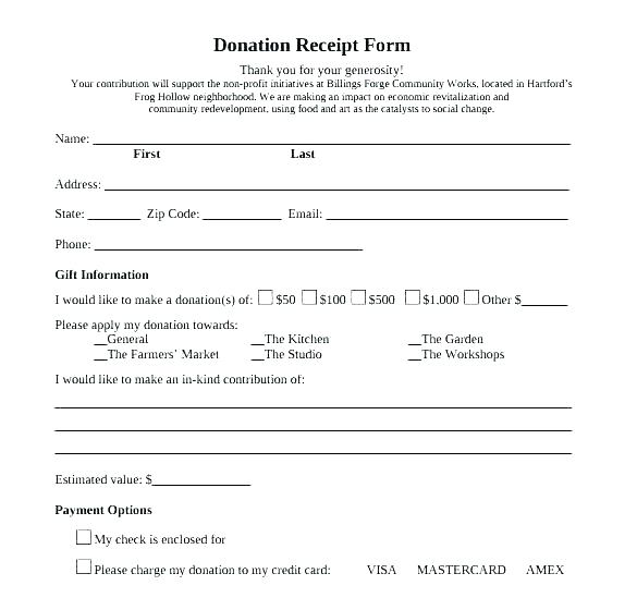 Non Profit Donation Pledge Form Template
