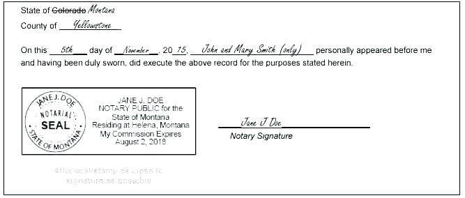 Notary Stamp Template