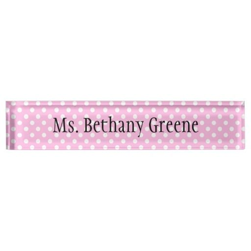 Office Desk Name Plate Template