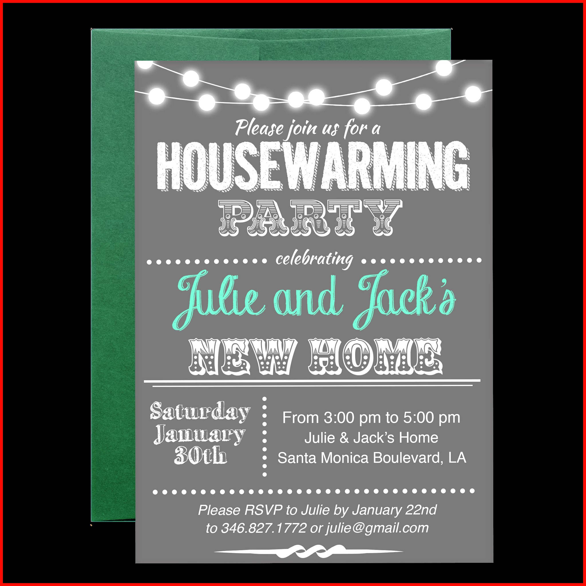 Open House Invitation Template Free