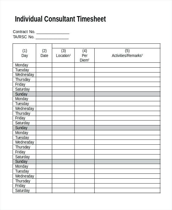 Paralegal Timesheet Template