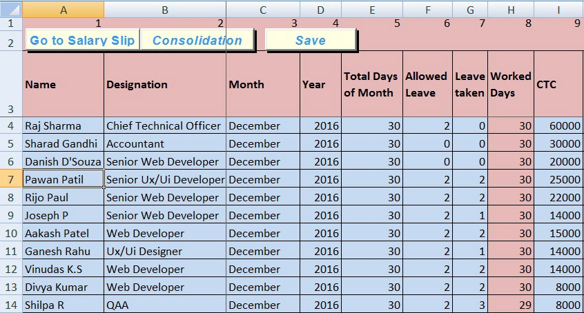 Payroll Hr Templates Excel