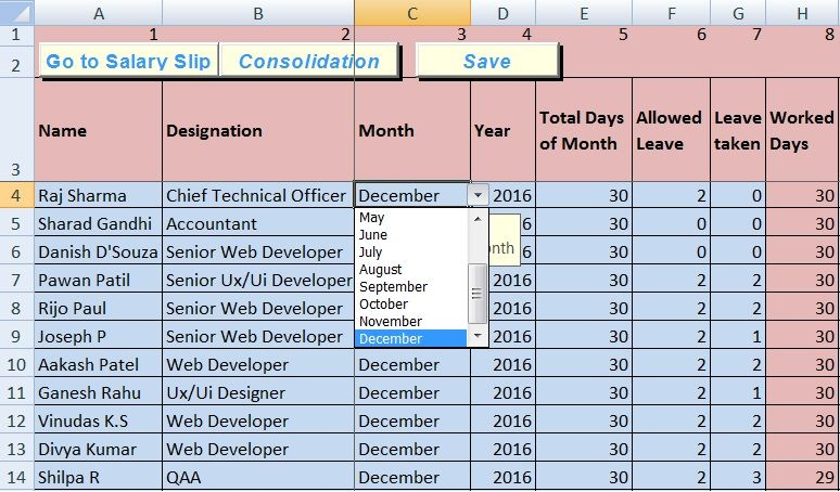 Payroll Sheet Template Excel