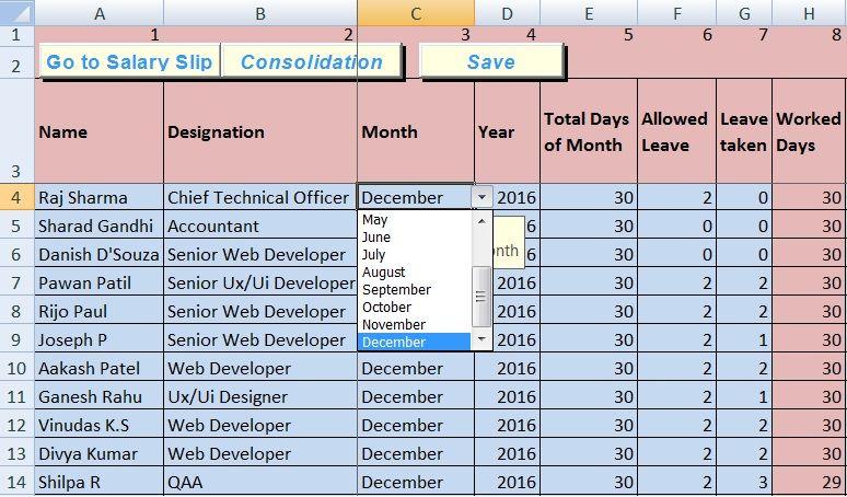 Payroll Sheet Template Excel