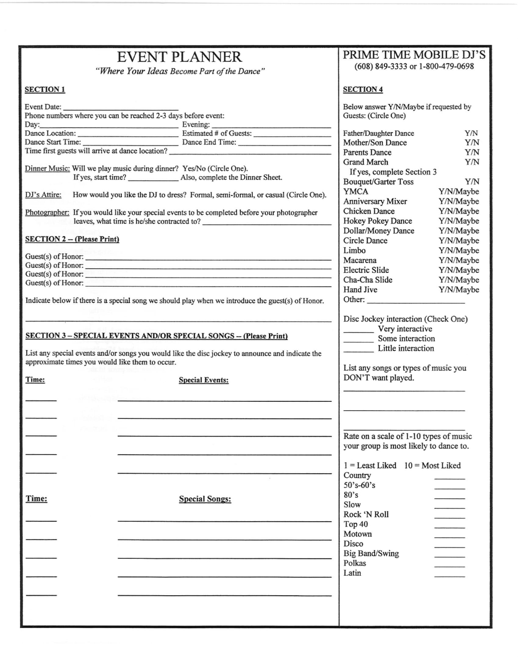Pdf Wedding Dj Contract Template