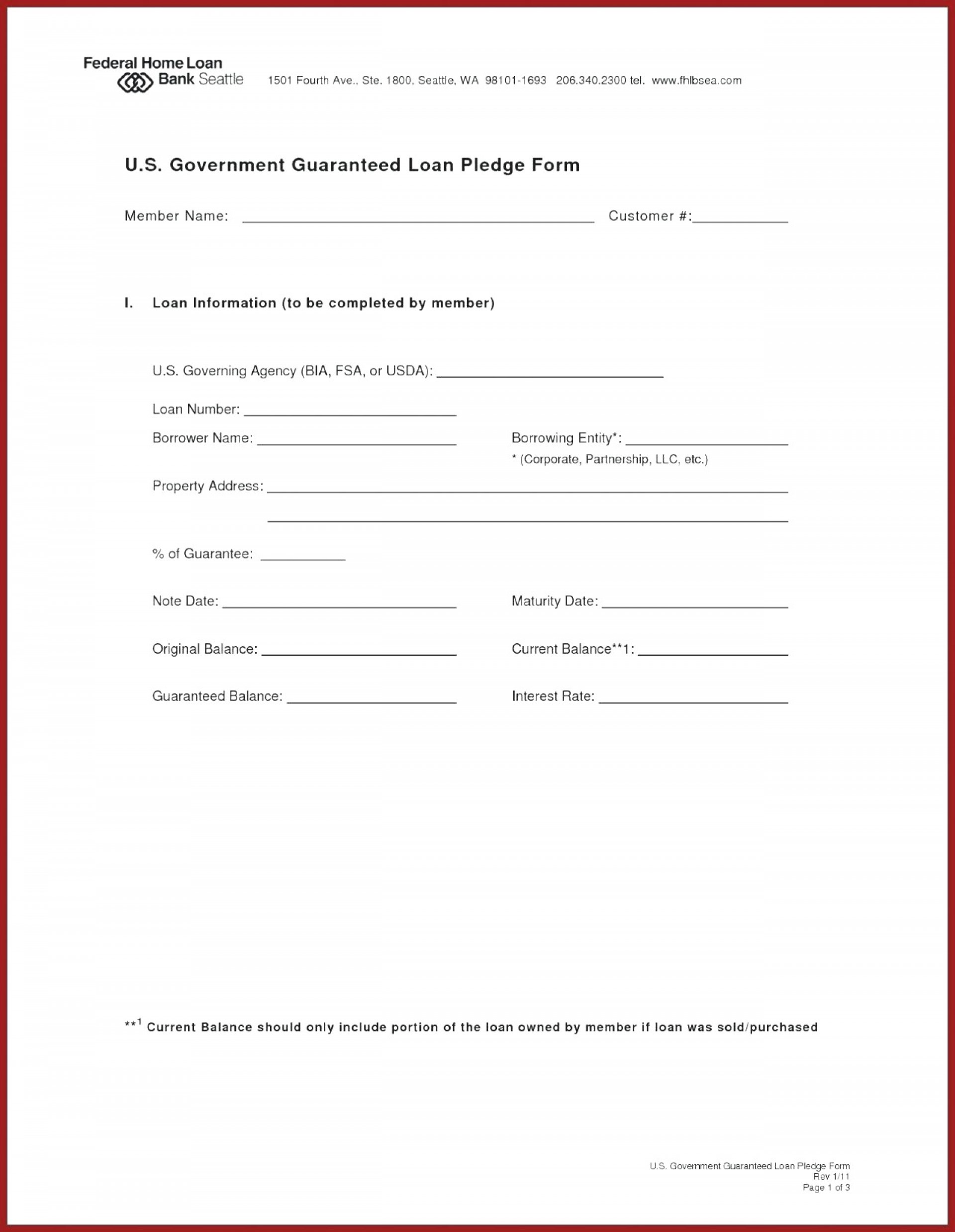 Personal Guarantee Agreement Template Uk