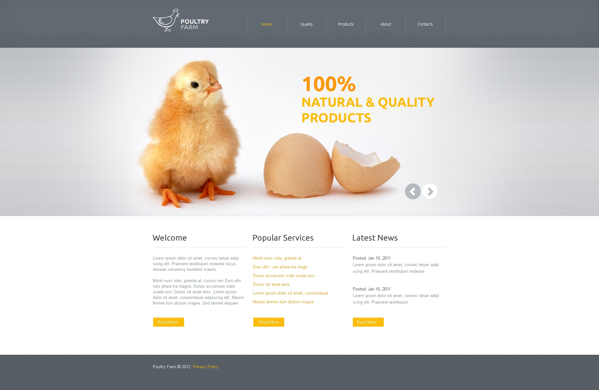 Poultry Website Template