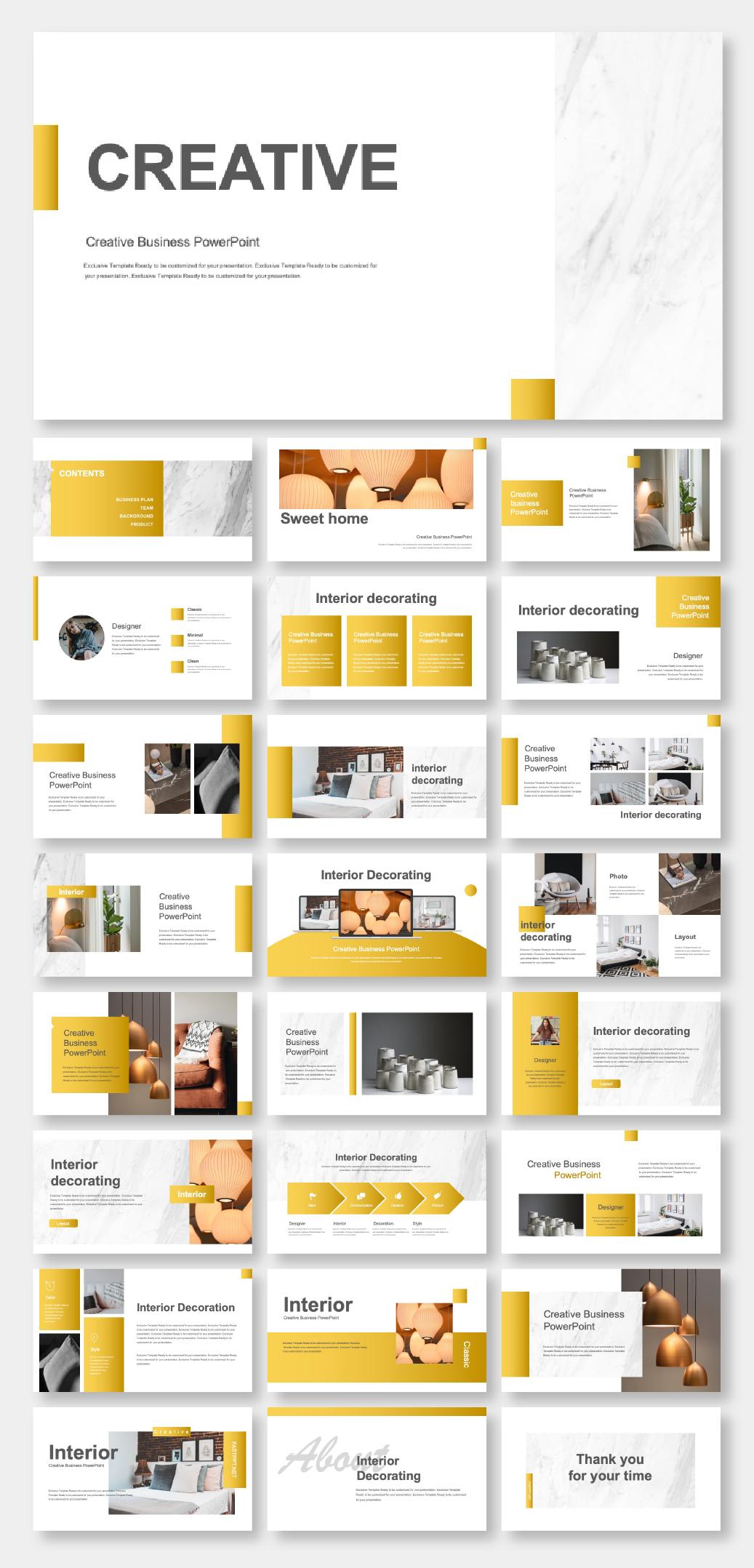 Powerpoint Interior Design Presentation Templates