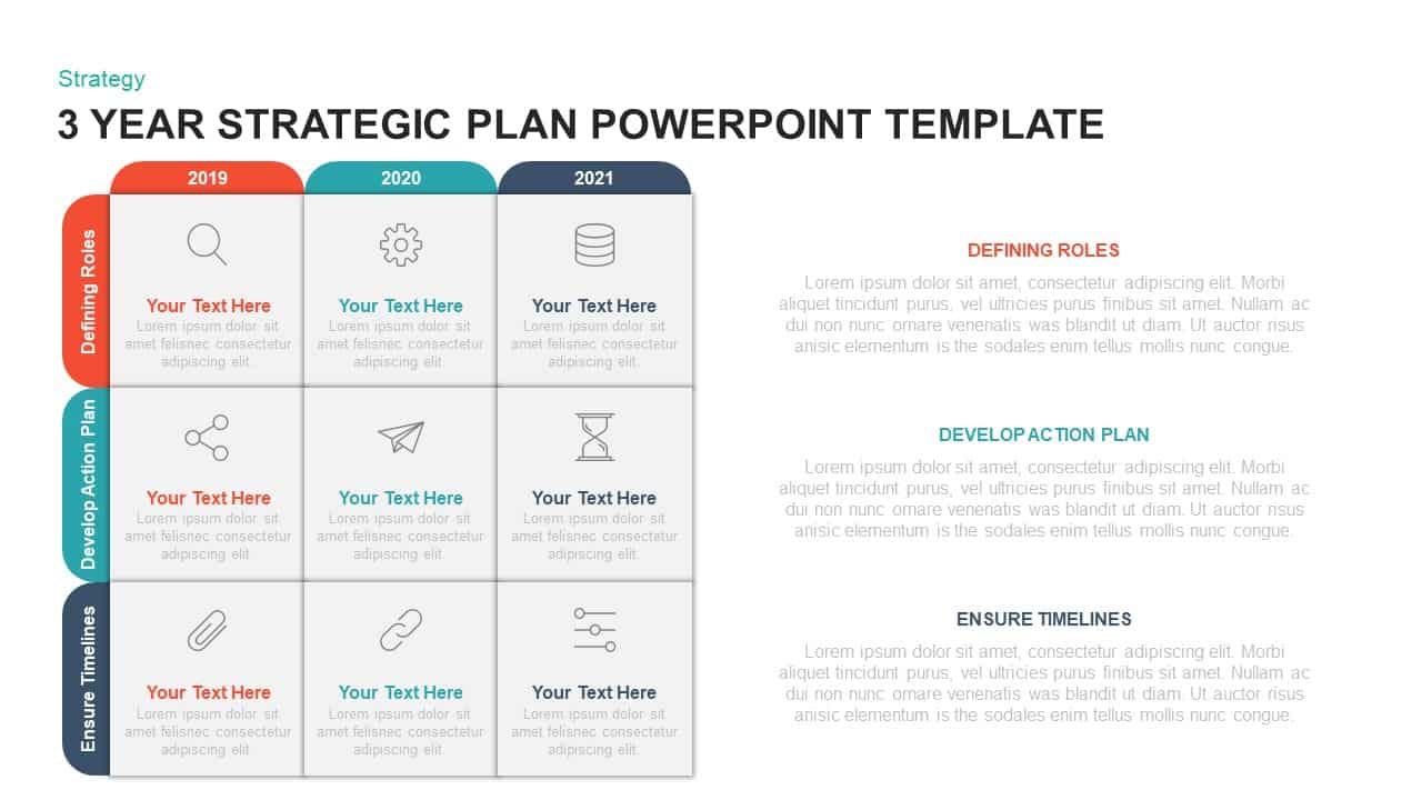 Powerpoint Strategic Action Plan Template