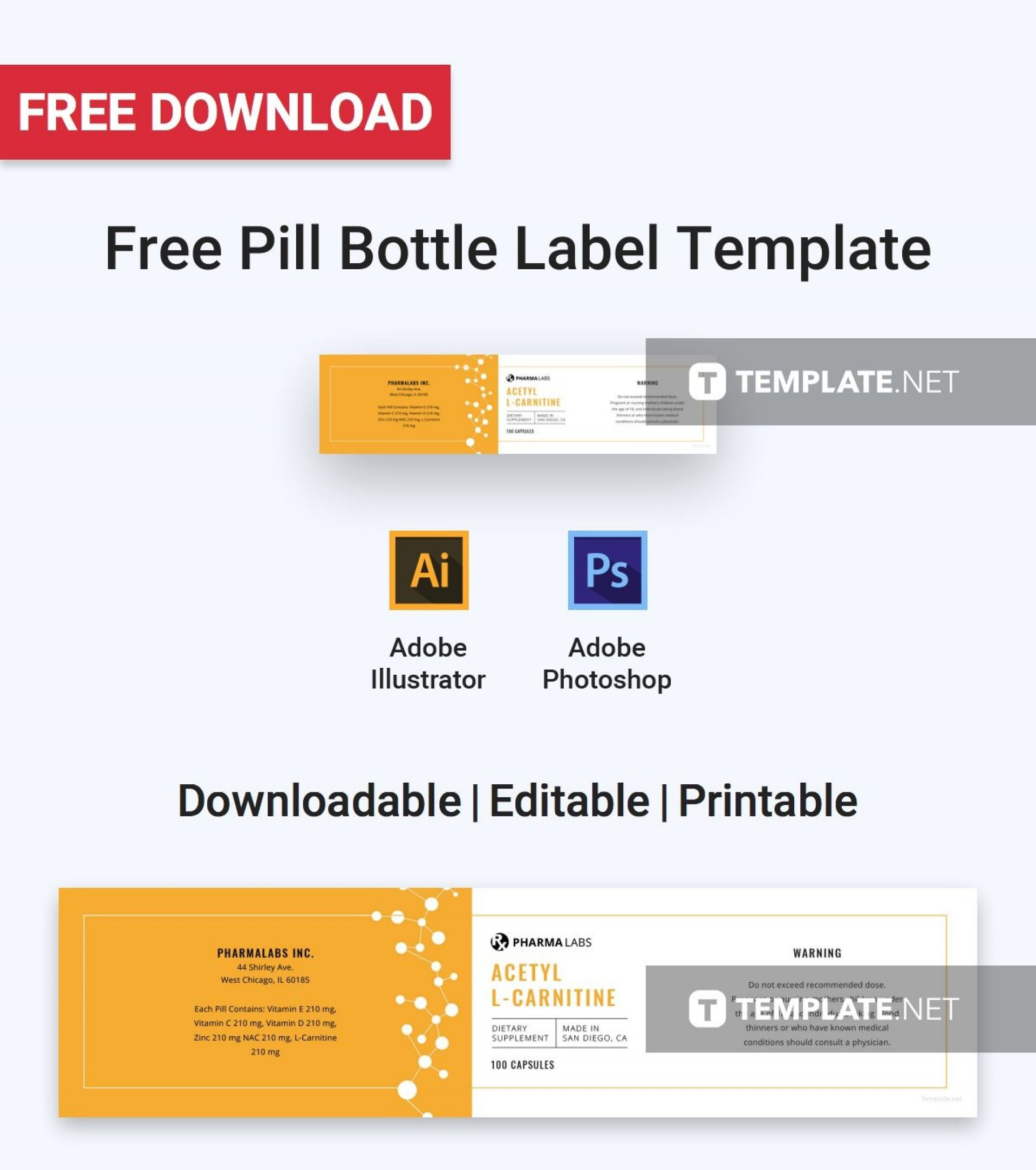 Prescription Medicine Bottle Label Template
