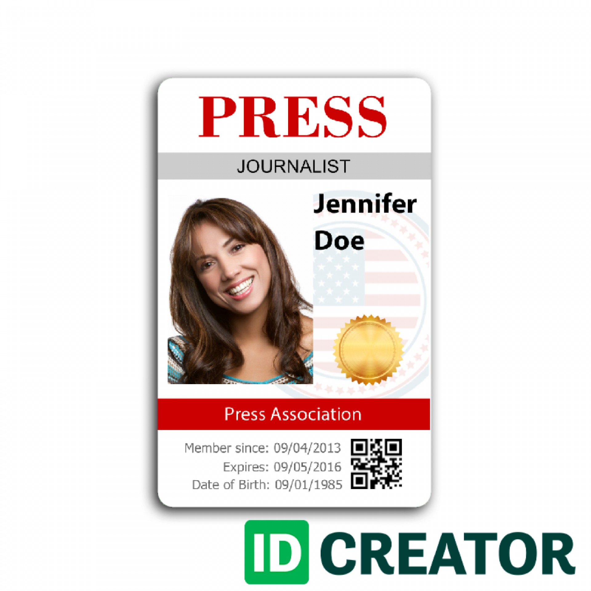 Press Credentials Template