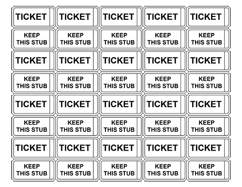 Printable Admission Tickets Template