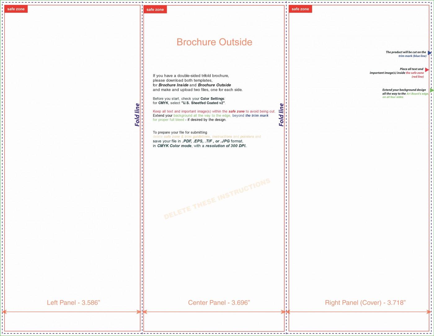 Printable Brochure Templates For Kids