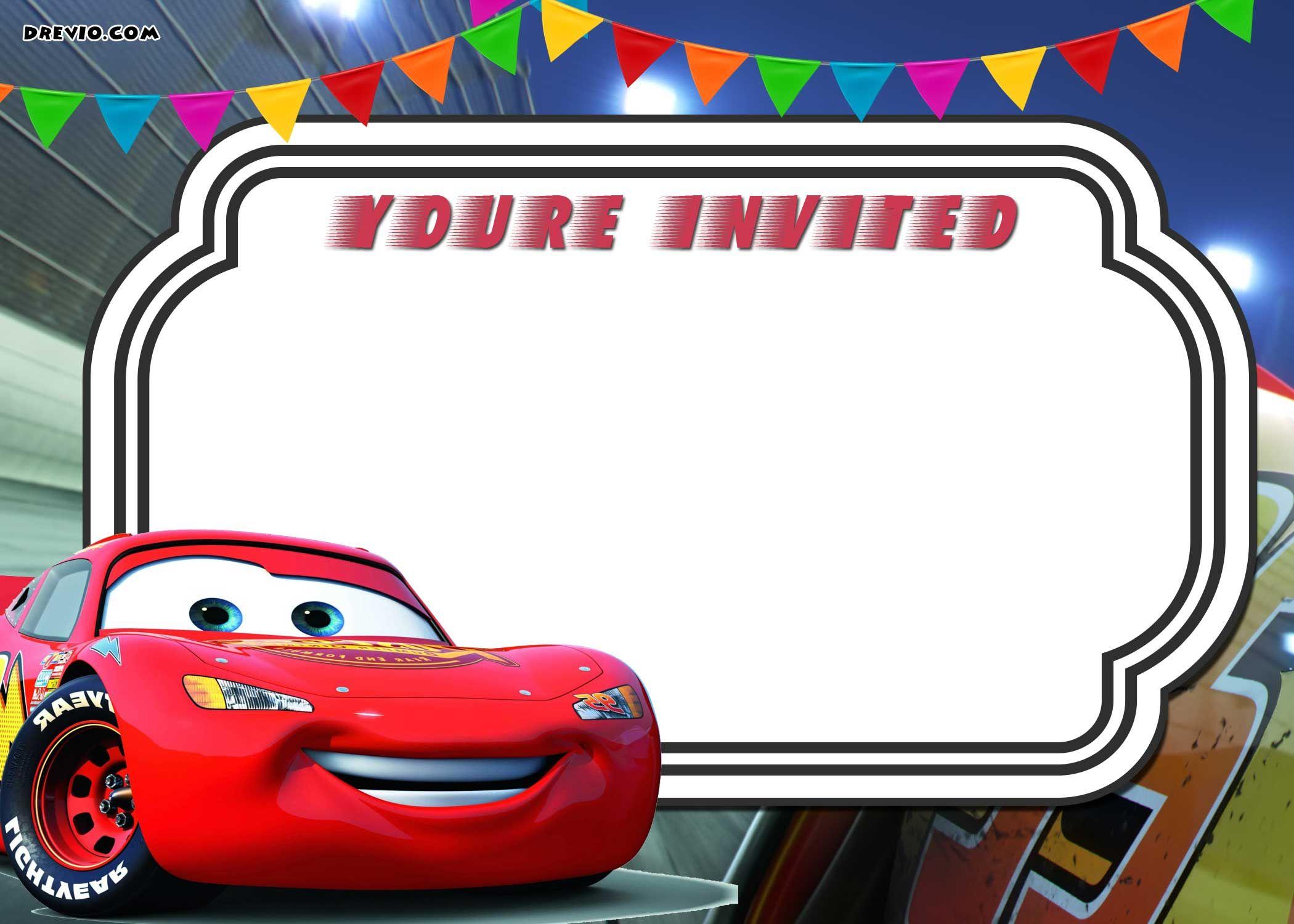 Printable Cars Birthday Invitation Template