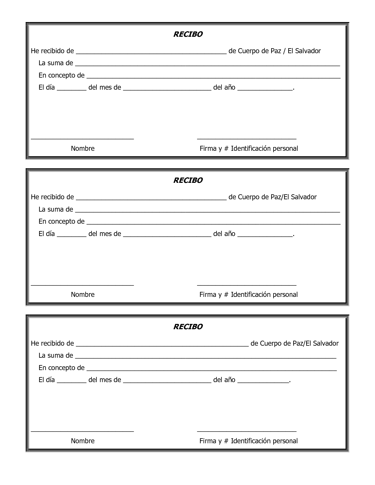 Printable Charitable Donation Form Template