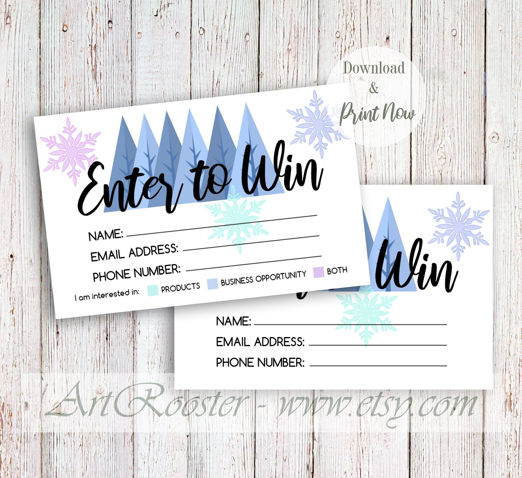 Printable Christmas Raffle Tickets Template