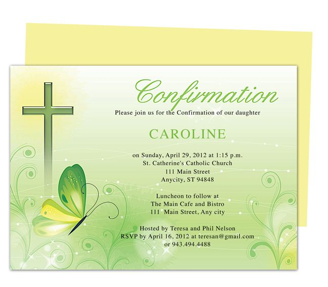 Printable Confirmation Invitation Template