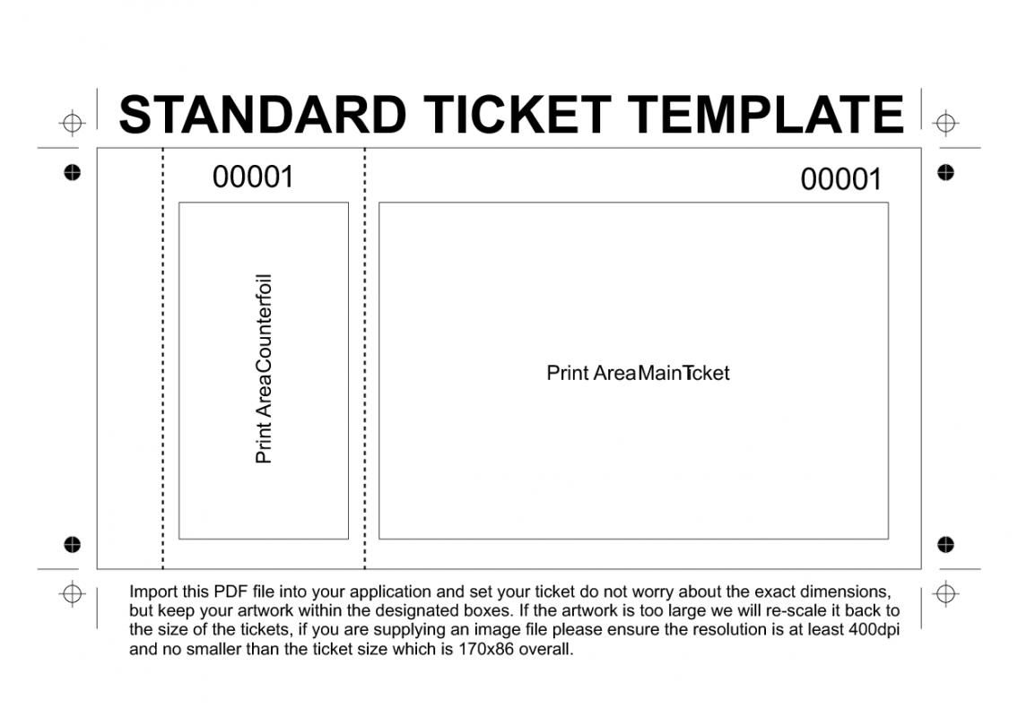 Printable Event Tickets Template