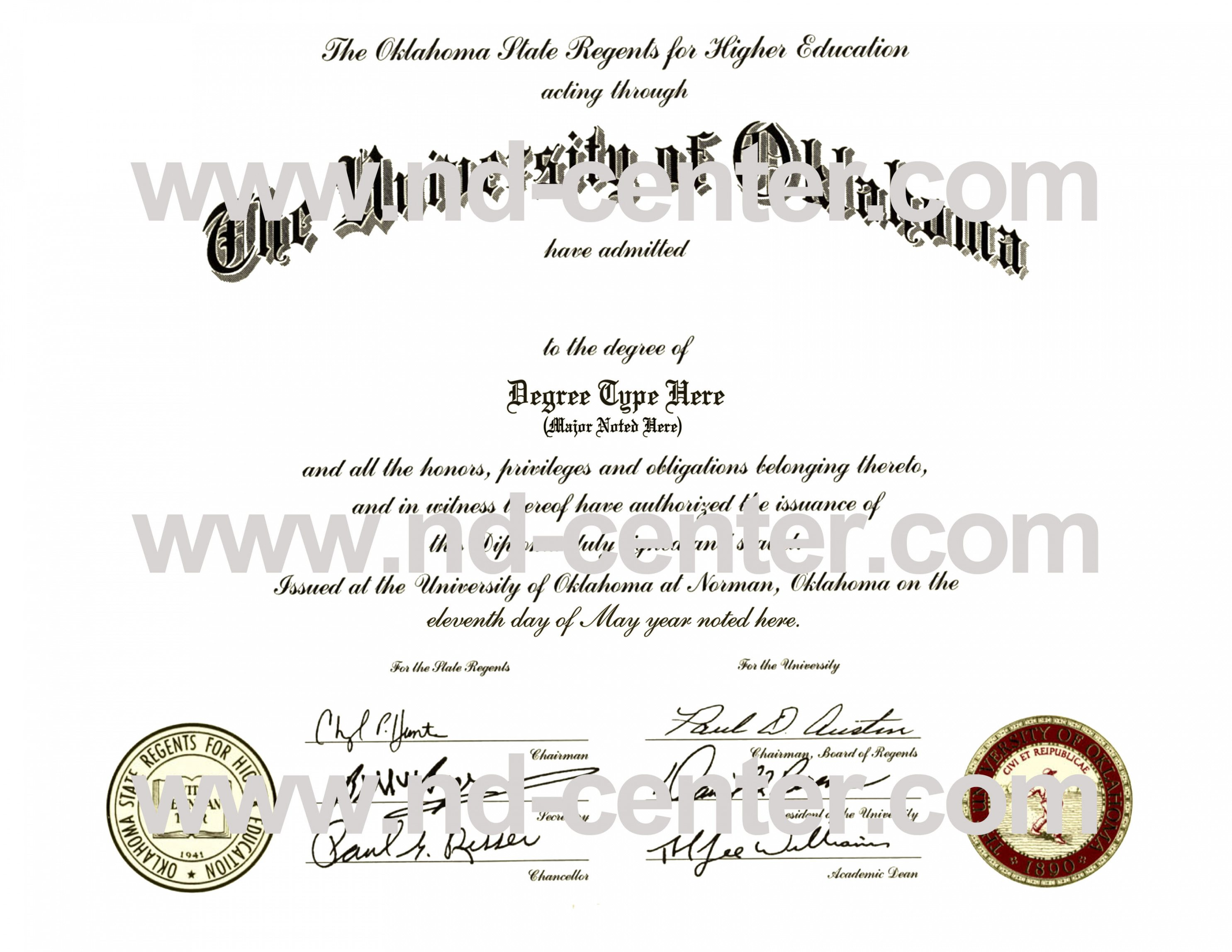 Printable Fake College Diploma Template
