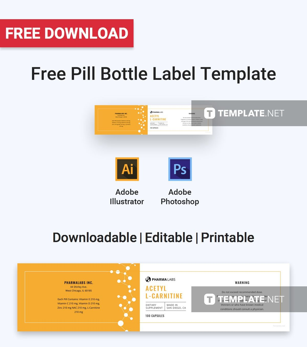 Printable Medication Label Template